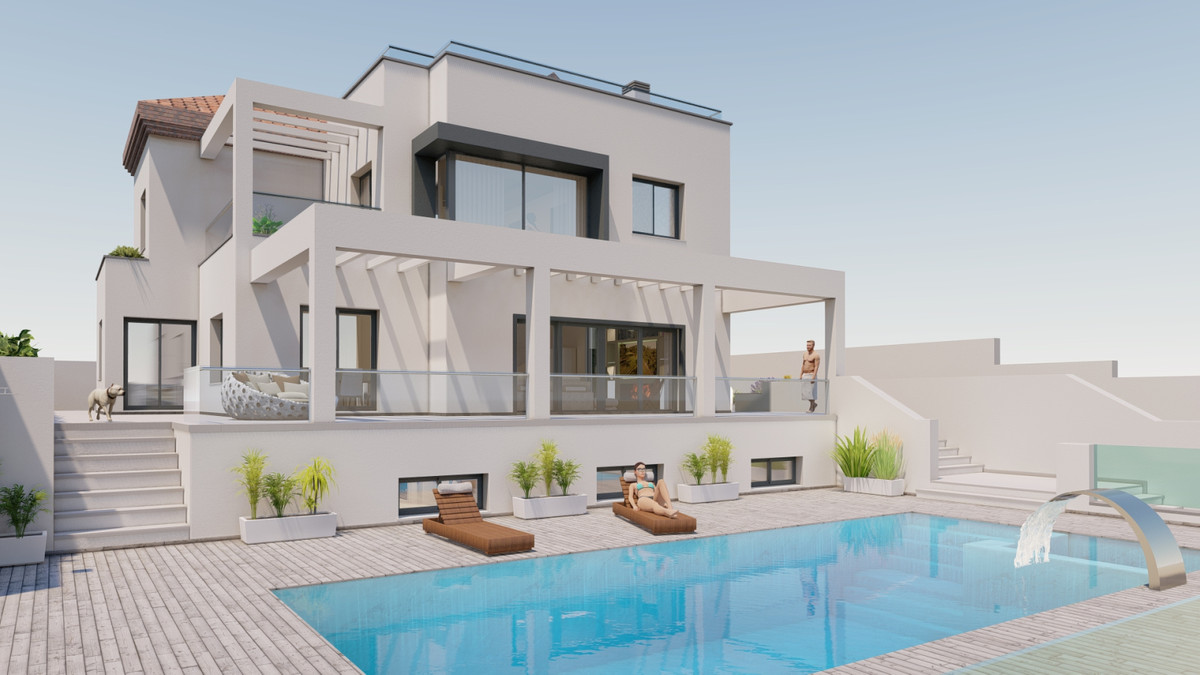 Super modern luxury Villa, in La Capellania, Retamar area - Benalmadena.  It has panoramic views of ,Spain