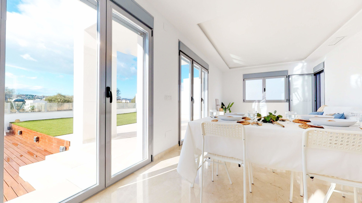 Modern style luxury villa under construction in Mirador de La Sierrezuela, Mijas, is situated only 1Spain