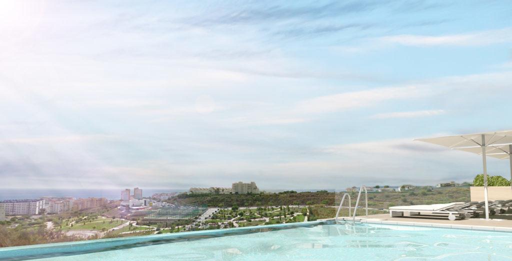 Apartments above the marina of Estepona