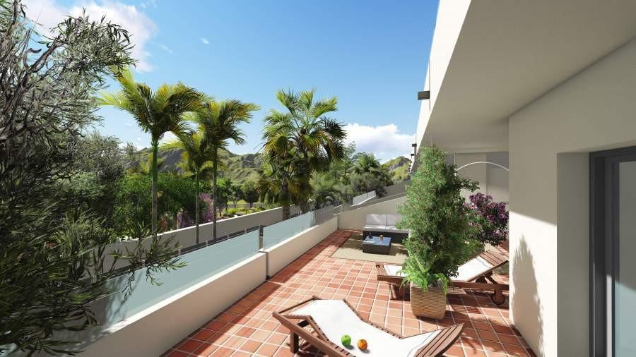 Spacious apartments above the Mediterranean coastline