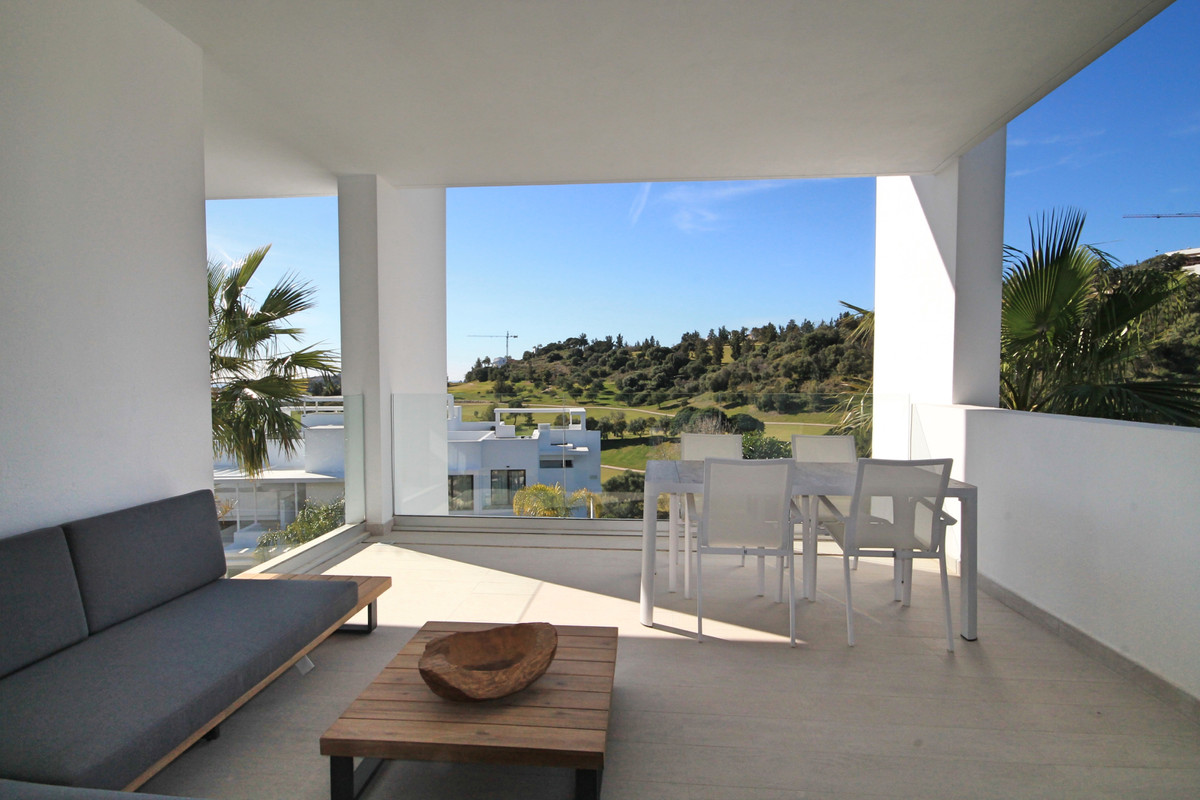 Brand new, modern two bedroom apartment with sea and golf views and high end designer furniture.  ThSpain