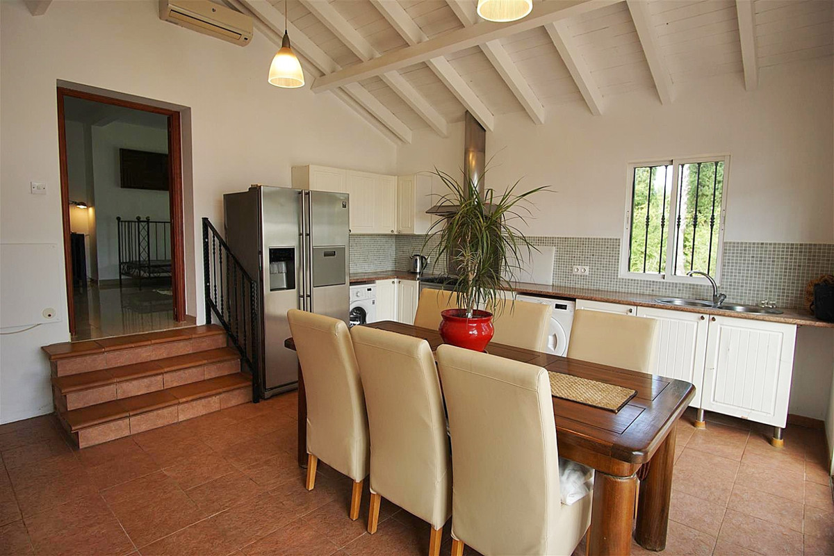 The plot is completely flat, fenced with a very pretty garden which offers total privacy.   The hous,Spain
