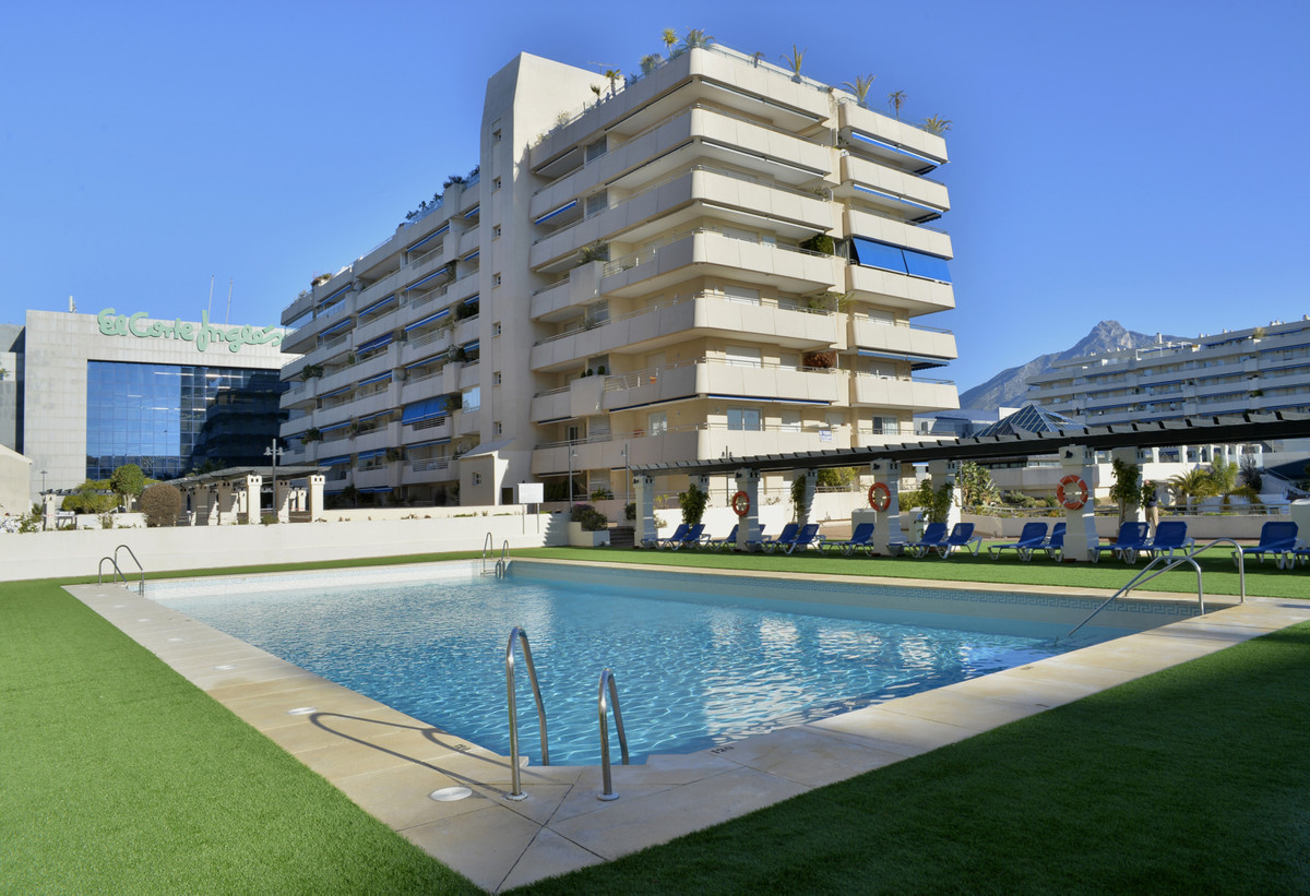 In the heart of Puerto Banus, property with 2 bedrooms, 2 bathrooms, living room with access to a te,Spain