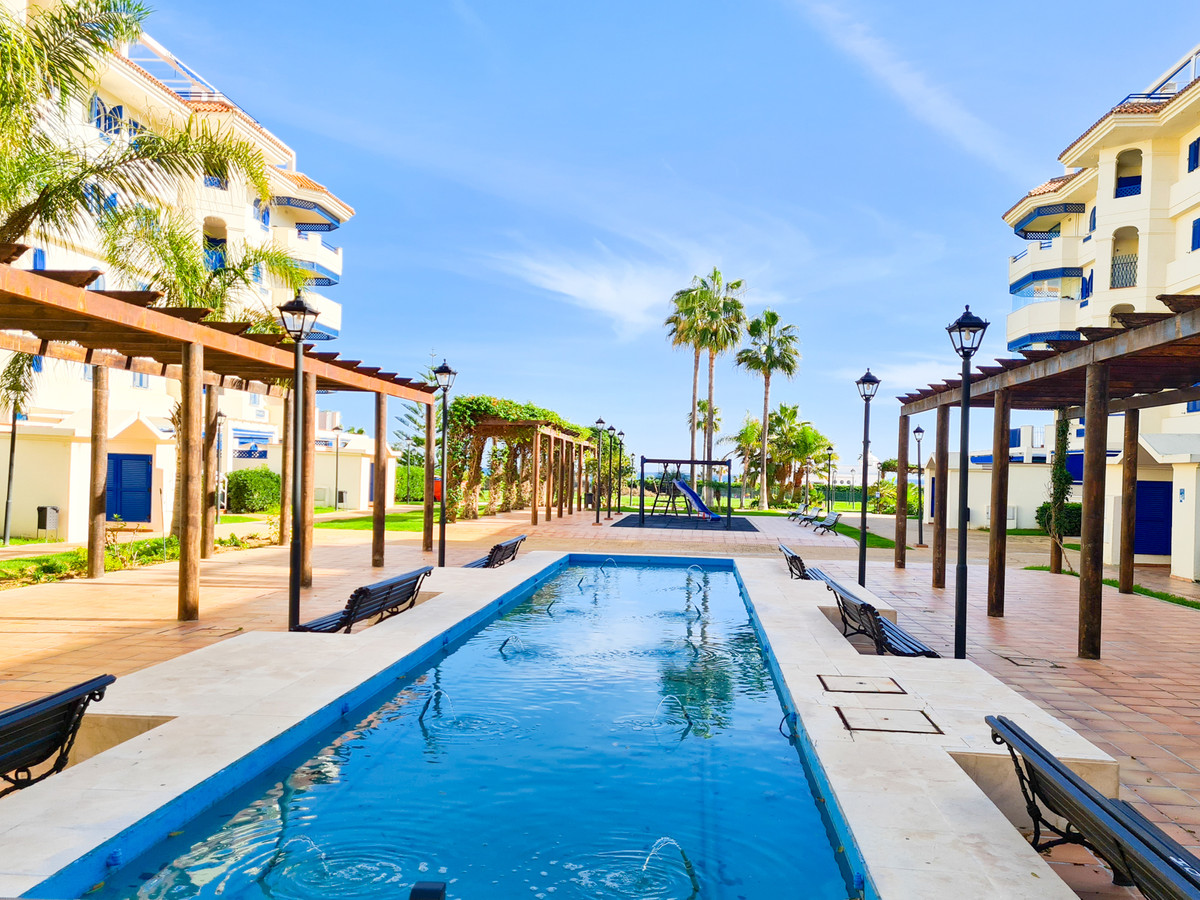 Frontline beach: Beautiful 3-bedroom apartment with terrace in the prestigious beachfront urbanisati,Spain