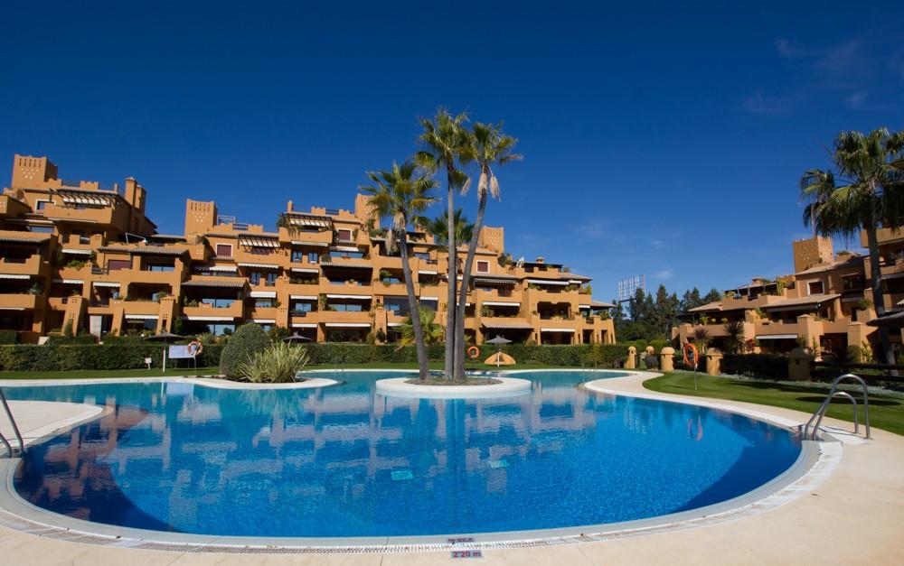 Ultra luxurious apartment in a prestigious gated urbanization with communal pools, gardens, a gym, a,Spain