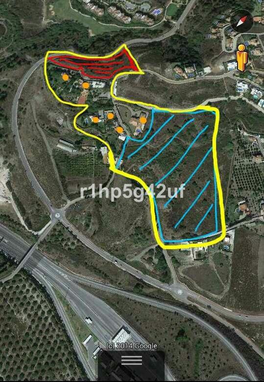 Plot to build 2 luxury villas in the border between Benahavis and Marbella, in the area of El Capita,Spain