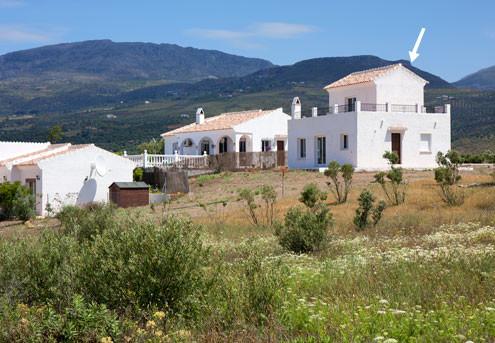 Cortijos Romero, La Vinuela - Costa del Sol East. Detached Villa for Sale 3 bedrooms and 2 bathrooms,Spain