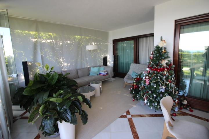Frontline 3 bedroom ground floor apartment for sale in an exclusive development in Estepona!! This g,Spain