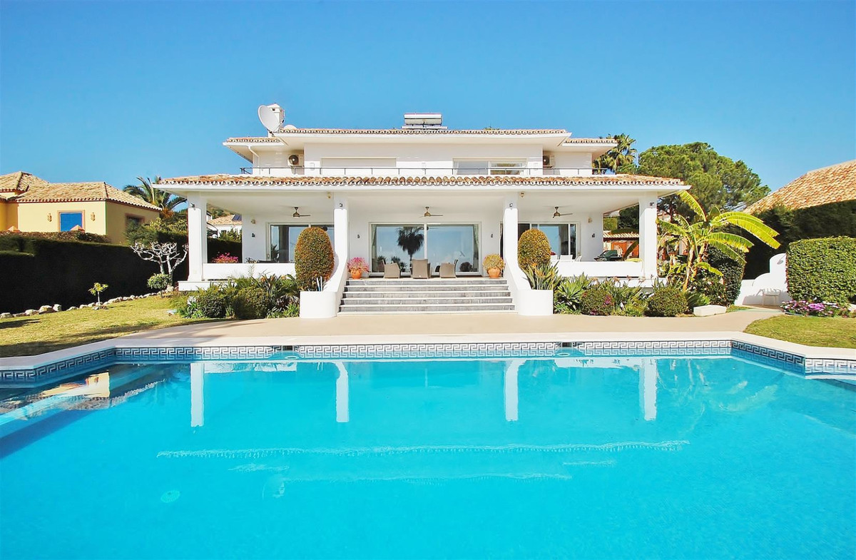 Stunning frontline golf villa Nueva Andalucia. This west facing villa is overlooking Los Naranjos Go,Spain