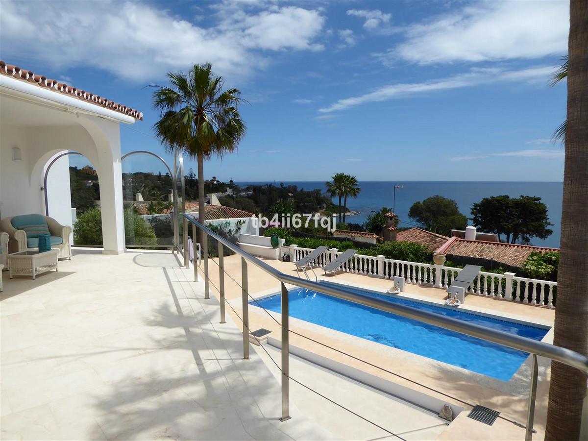 Andalusian villa with stunning panoramic sea view, over the Mediterranean, Gibraltar and Africa, rea,Spain