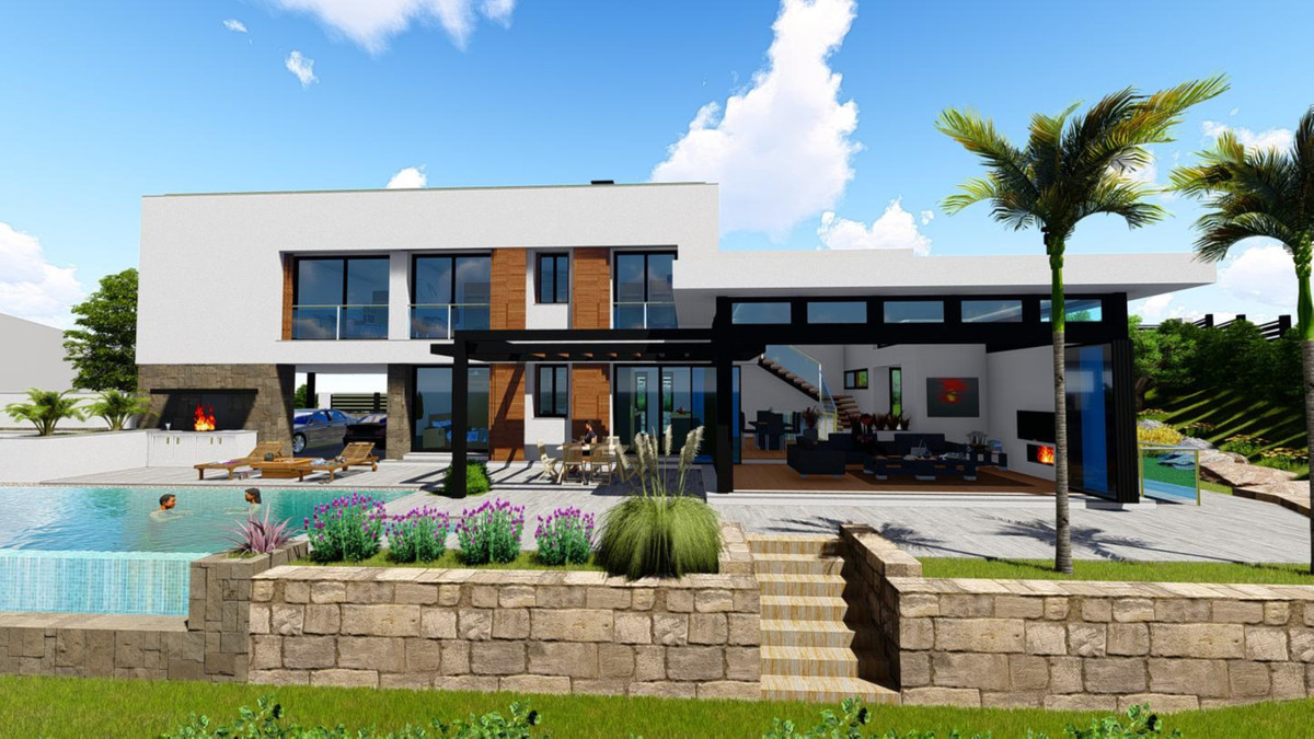 PLOT OF LAND with a surface of 1.143m2 with a beautiful PROJECT of a MODERN CONTEMPORARY VILLA, with,Spain