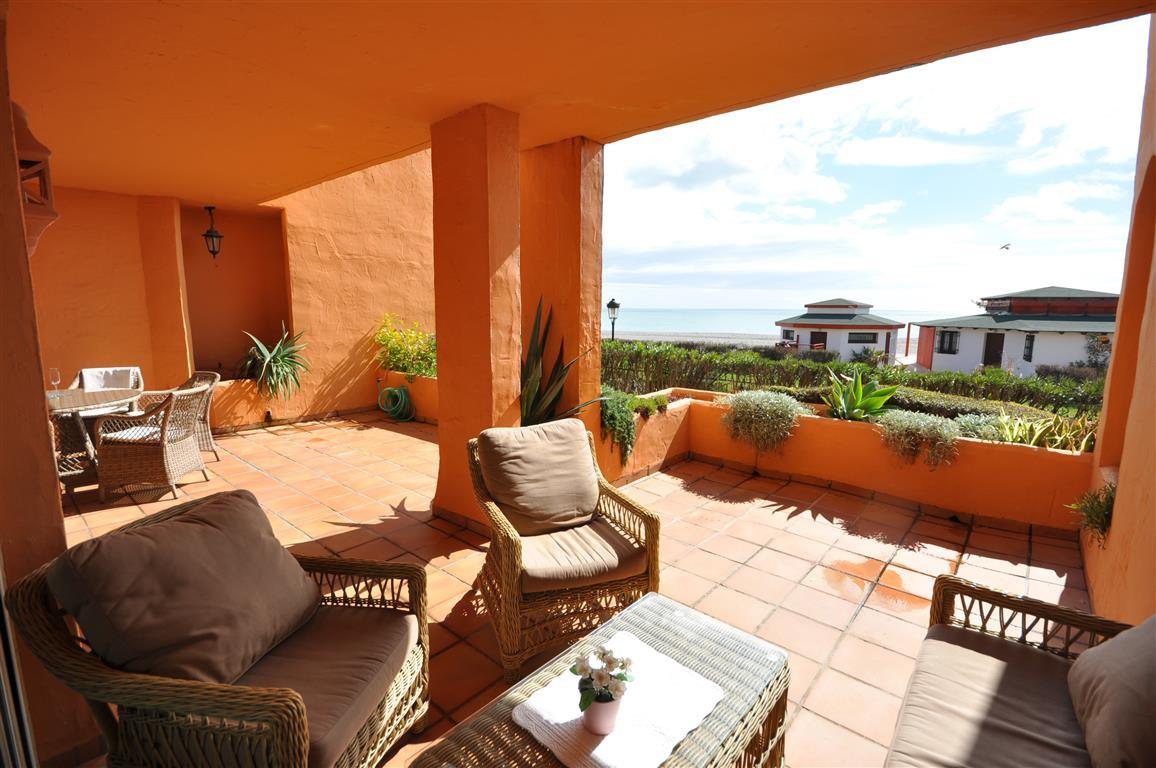 LOCATION, LOCATION, LOCATION, FRONT LINE BEACH GROUND FLOOR APARTMENT in LA DUQUESA. This luxury apa,Spain