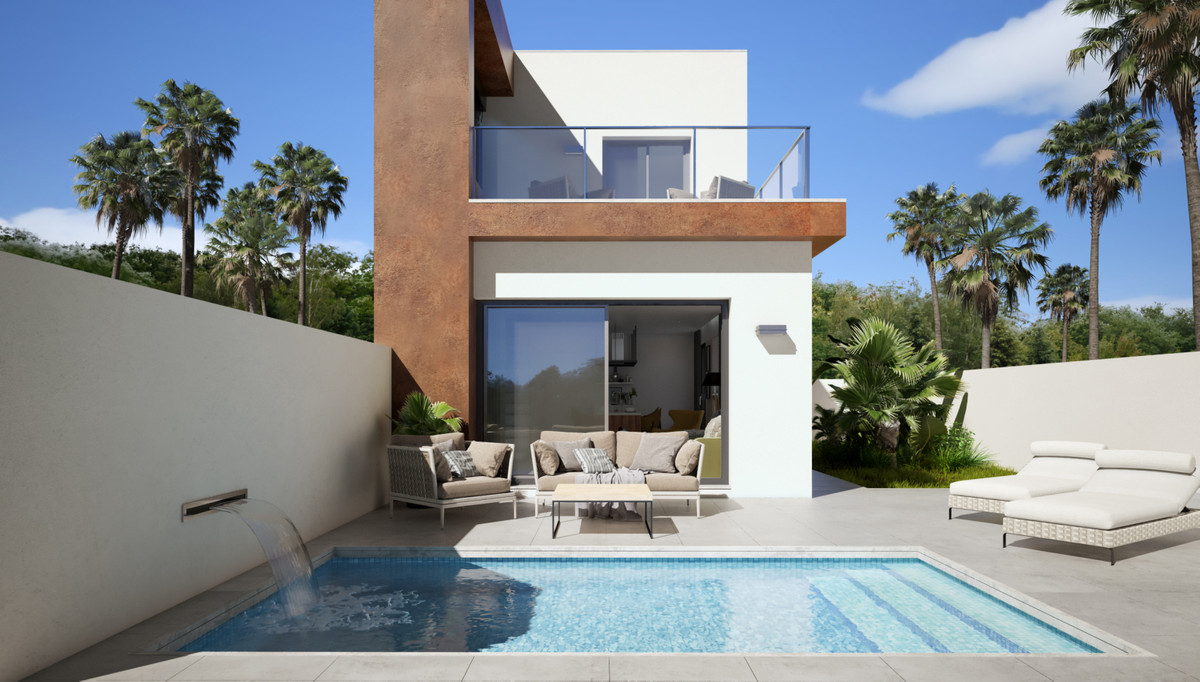 New build semi detached villas in the new part of Daya Nueva. 3 bedrooms, 2 bathrooms, private splas,Spain