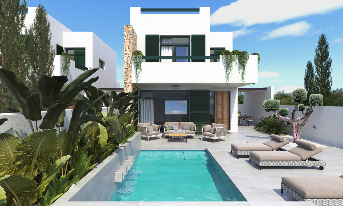 New build promotion of seven independent and semi detached villas in Daya Nueva. Dining / living roo,Spain