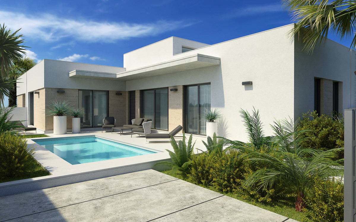 New build villas all on one floor in the new part of Daya Nueva. 3 bedrooms, 2 bathrooms and private,Spain