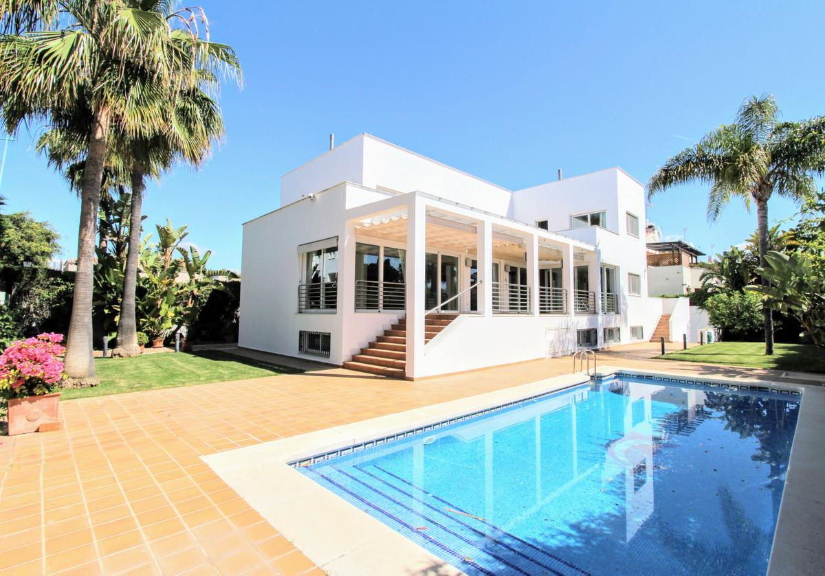 Spacious beach side villa in popular San Pedro, short drive west from Marbella and Puerto Banus, wal,Spain