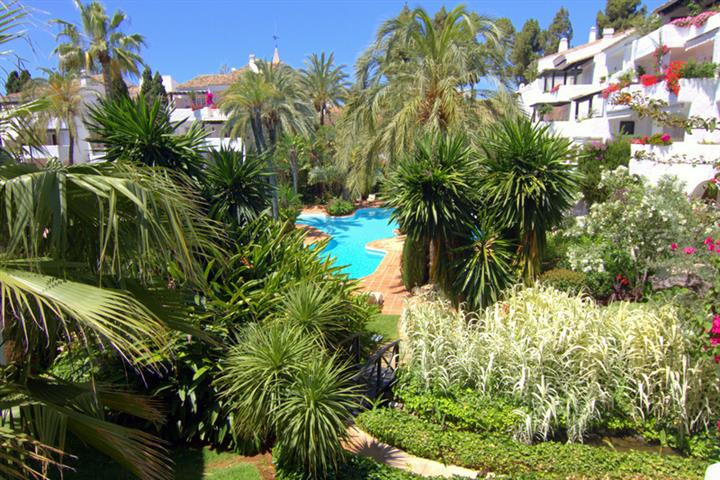 This luxurious apartment is situated on the Golden Mile of Marbella right next to the Puente Romano ,Spain