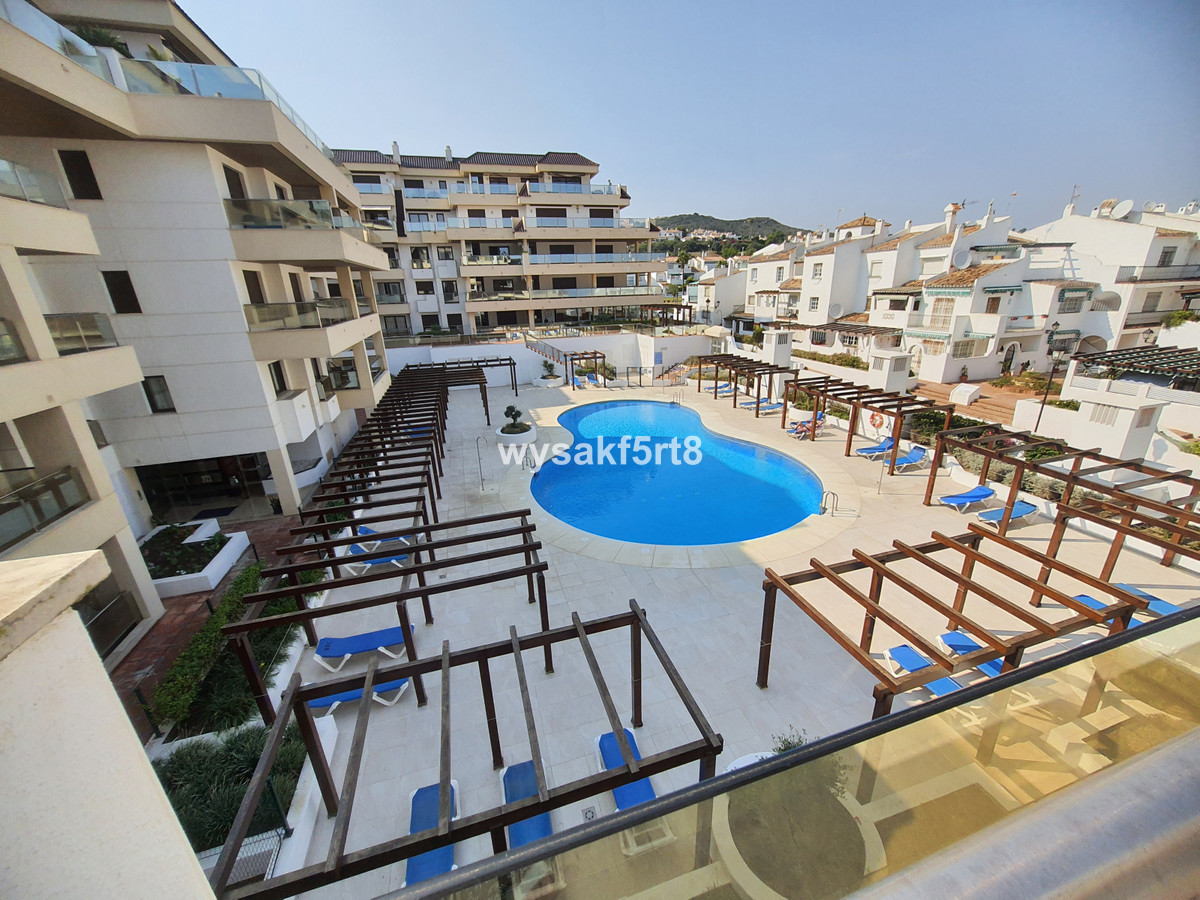 A very well-located top floor apartment with stunning views to the beach. Situated in a frontline be,Spain